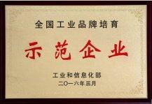 工业品牌示范企业证书